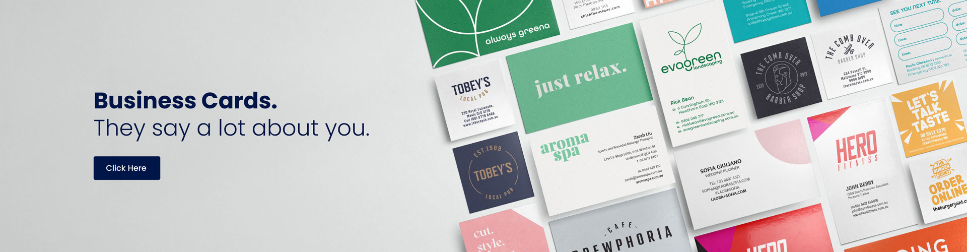 Business Cards printed examples