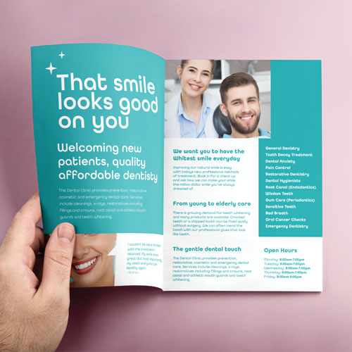Brochure A5 printed example