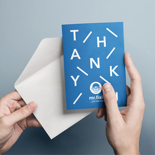 thank you card A6 printed example
