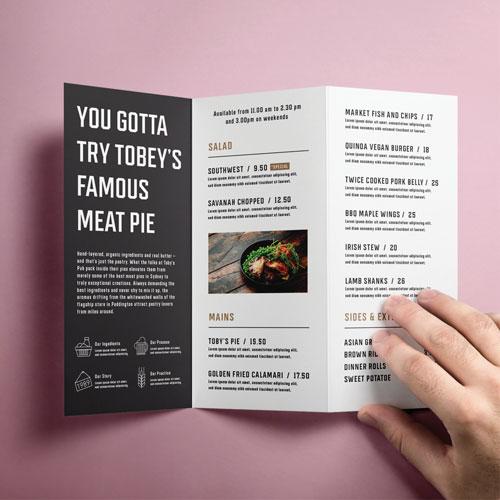 Brochure  DL printed example