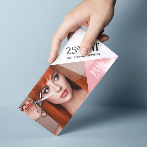 postcard dl printed example