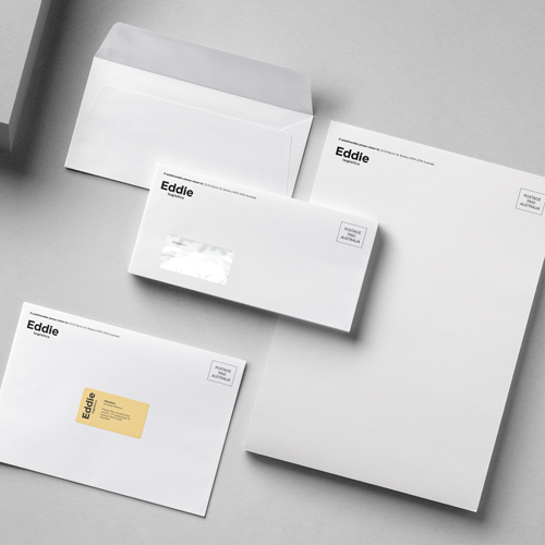 Envelopes printed examples