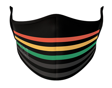 Face Mask - Black, Red, Yellow & Green