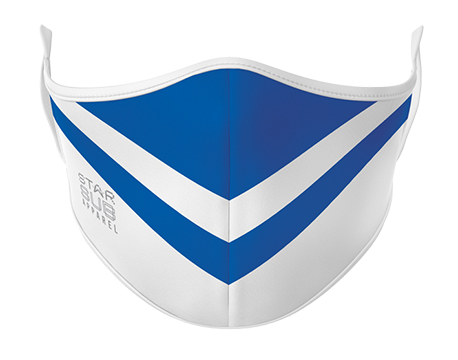 Face Mask - Blue & White
