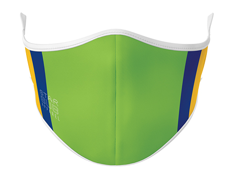 Face Mask - Green, Blue & Yellow