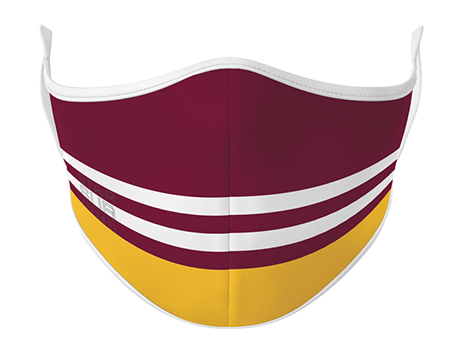 Face Mask - Maroon & Yellow