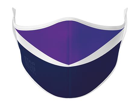 Face Mask - Purple & Navy