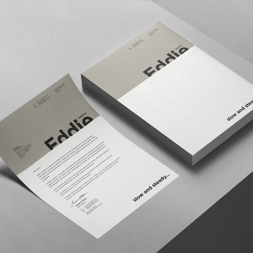 Letterheads printed example