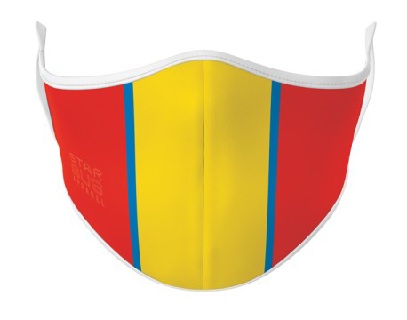 Face Mask - Blue, Red & Gold