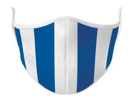 Face Mask - Royal Blue & White