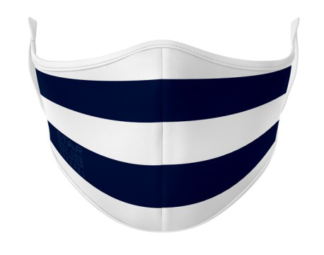 Face Mask - Navy & White
