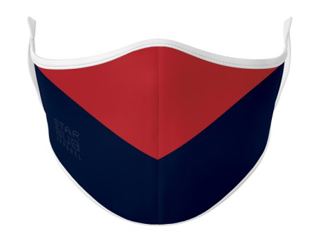 Face Mask - Red & Navy