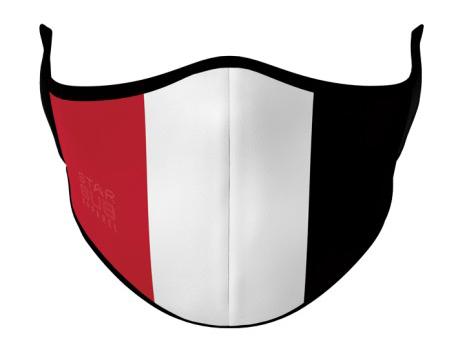Face Mask - Red, White & Black